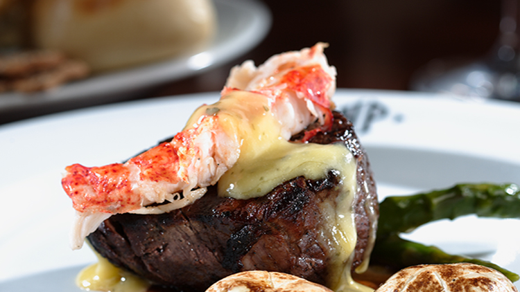 Steak a la lobster