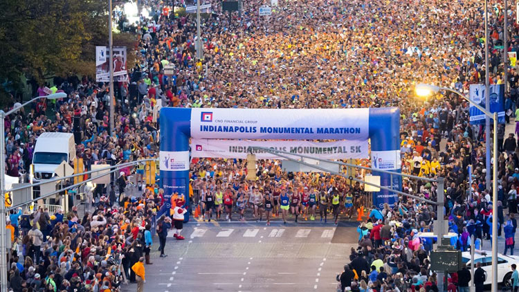 CNO Financial Indianapolis Monumental Marathon, Half Marathon, 5K and Kids Run