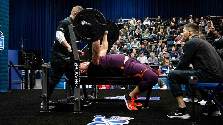 NFL Scouting Combine - Prospect Bench Press Viewing