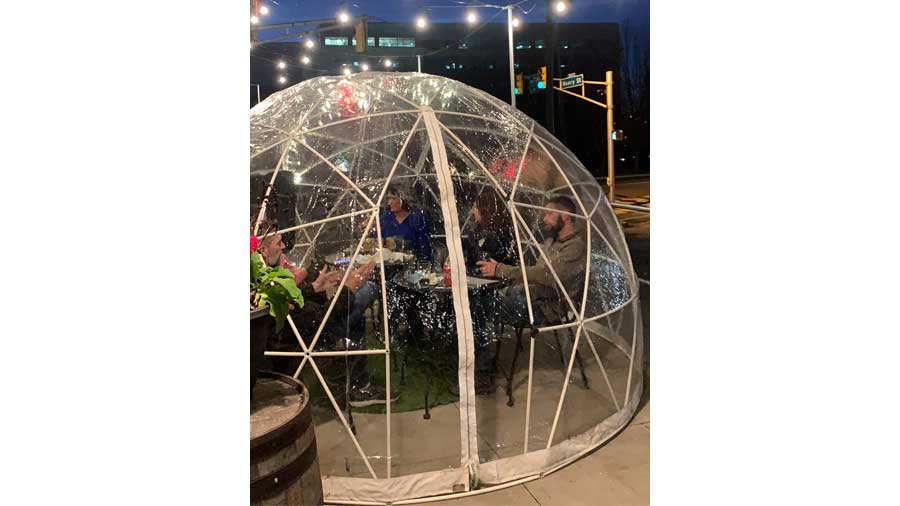 Ellison Brewing Co. - New Outdoor Option - Igloos!