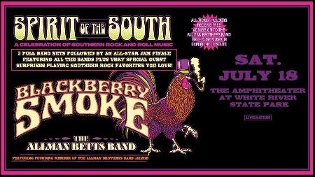 Blackberry Smoke – Spirit of the South Tour With special guests The Allman Betts Band and The Wild Feathers