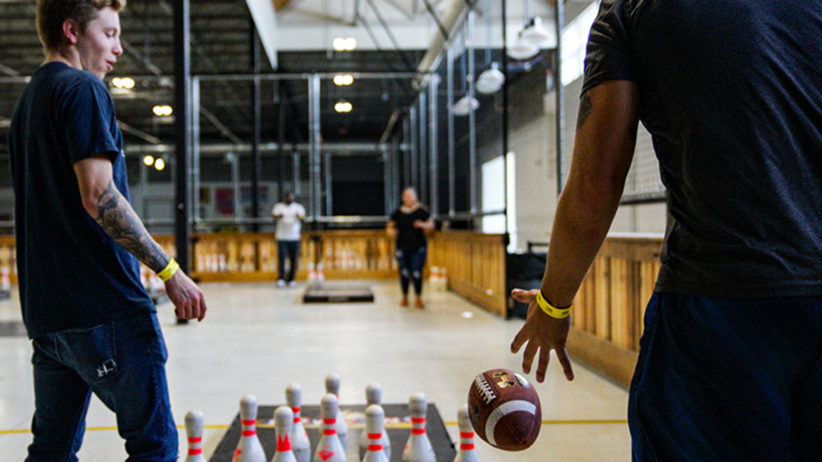 New Football-Bowling Game Opens at Circle City Industrial Complex