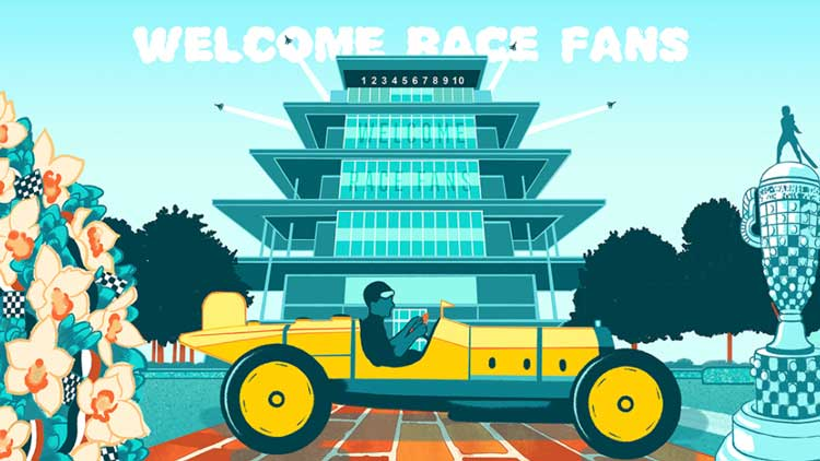 """""""Welcome Race Fans"""" Artwork Returns in GIF Form for 2021"""